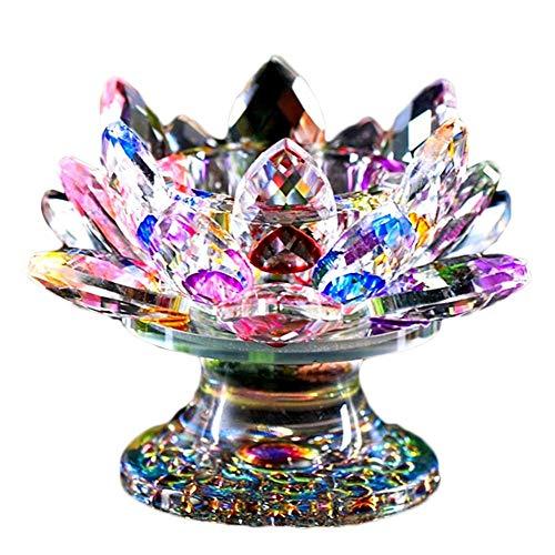 Golden.Y Kristall-Kerzenhalter, Lotus-Design, Elegantes Teelicht Kristall Glas Lotus Blume Design Kerzenständer Hochzeit Festival Tafelaufsatz Home Decoration.