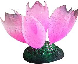 MJuan-clothing,Aquarium Artificial Grass Aquarium Accessories, Silicone Glow Artificial Fish Tank Aquarium Coral Bubble Plant Ornament Decor - Pink