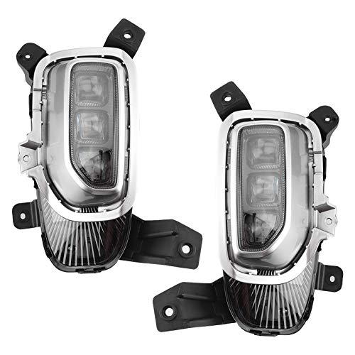 Luz de circulación diurna LED DRL, lámpara delantera de coche, luz antiniebla de parachoques delantero DRL con cubierta de lámpara antiniebla para Seltos 2020-2021