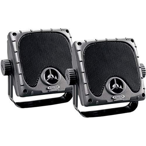 JENSEN JXHD35 Heavy Duty 3.5  MINI Weatherproof Surface Mount Speakers (1 Pair), Black
