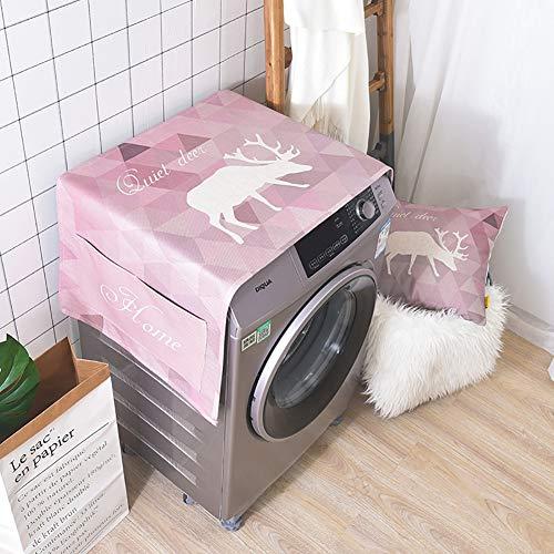 XuBa Waterdichte Katoen Linnen Stofafdekhoes Opbergtas voor Trommel Wasmachine Enkele Deur Koelkast