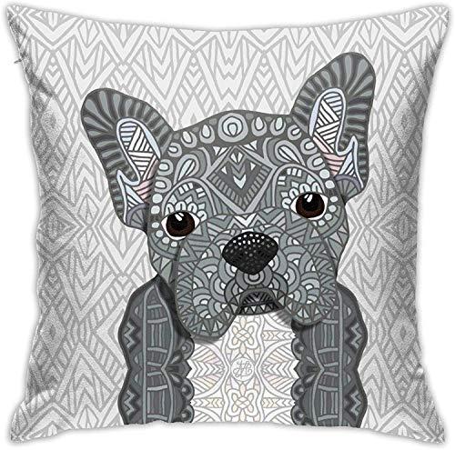 Old street Gray Frenchie 001 Pillowcase Floor Pillowcase Sofa Cushion Cushion Cover Backrest Over Seat Cushion Interior