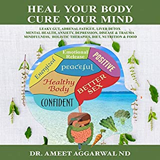 Heal Your Body, Cure Your Mind     Leaky Gut, Adrenal Fatigue, Liver Detox, Mental Health, Anxiety, Depression, Disease & Trauma. Mindfulness, Holistic Therapies, Diet, Nutrition & Food              Auteur(s):                                                                                                                                 Dr. Ameet Aggarwal ND                               Narrateur(s):                                                                                                                                 Angela Ohlfest                      Durée: 5 h et 6 min     Pas de évaluations     Au global 0,0