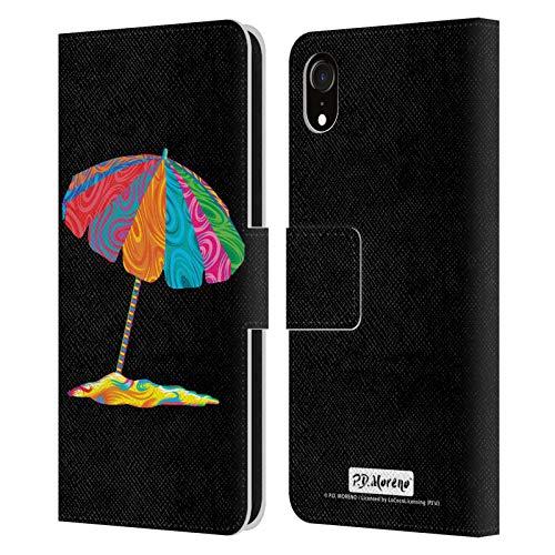 Head Case Designs Licenciado Oficialmente P.D. Moreno Sombrilla de Playa Diseño Surtido Carcasa de Cuero Tipo Libro Compatible con Apple iPhone XR