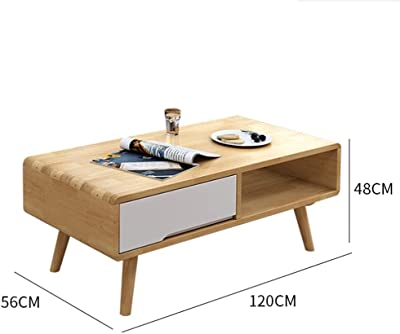 Coffee Table Side Table End Table Snack Table Freestanding Coffee Tables with Drawer for Storage Sofa Table for Home Living Room Office Coffee Table Side Table End Table (Color : B)