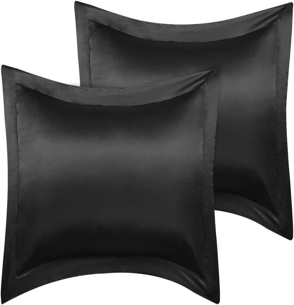 PiccoCasa European Pillow Max 77% OFF Shams Set Seasonal Wrap Introduction Pillo 2 26x26inch Satin of