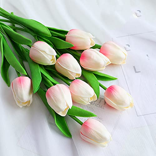 YOUTIFAN Artificial Tulip, Silk Flowers for Home, Wedding Decorations Latex Flowers for Home, Wedding Party Decorations, Indoor Decor, Living, Study, Bedroom Home Decorations