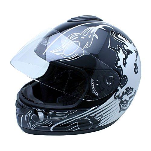 Roadstar Integral-Helm Revolution Wales, Schwarz/Weiß, Größe 55/56