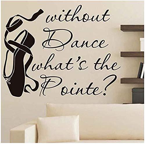 Muursticker Art No Dance Wat is Pointe Ballet Schoenen Home Decor Woonkamer Afneembare Vinyl Art Muursticker 56X44Cm