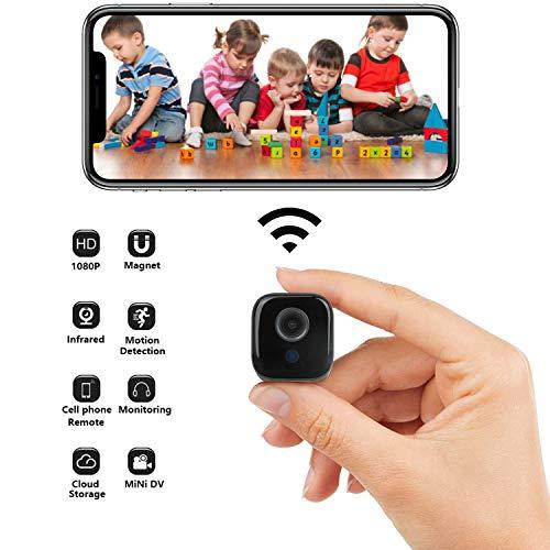 Binow Mini WiFi Camera Small Home Security Wireless Camera, Nanny Cam,...