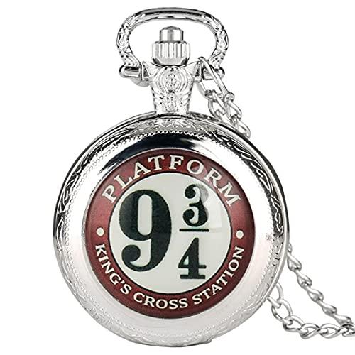 SSXR Hombres Mujeres Reloj de Bolsillo 3/4 Patrón Fob Relojes Colgante Collar Cadena Steampunk Mejores Regalos Reloj de Bolsillo-black1, a