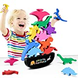 Wooden Stacking Dinosaur Toys for Kids 3-5 Boys - Dinosaur Toys for 2 Year Old Boy Stacking Toys Gifts for 2 3 4 Year Old Boys, 2 Year Old Toys for Boys Gifts