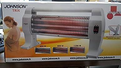Johnson Trix Estufa Estufa Eléctrica al cuarzo 3elementi Potenze 400/800/1200W