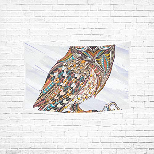 Jnseff Tapestry Ed Owl Key On Grunge Tapestries Wall Hanging Flower Psychedelic Tapestry Wall Hanging Indian Dorm Decor for Living Room Bedroom 6040inch