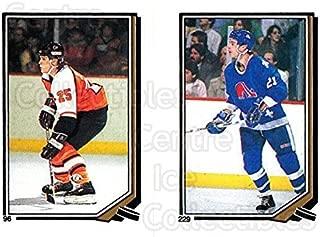 (CI) Peter Zezel, Randy Moller Hockey Card 1987-88 O-Pee-Chee Stickers 096-229 Peter Zezel, Randy Moller