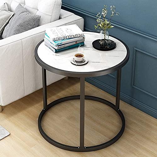 Mesa auxiliar con marco de metal, elegante escritorio esquinero para sofá, mesita de noche, portátil, PC, escritorio, fácil montaje, C 60 x 60 cm, A_60 x 60 cm