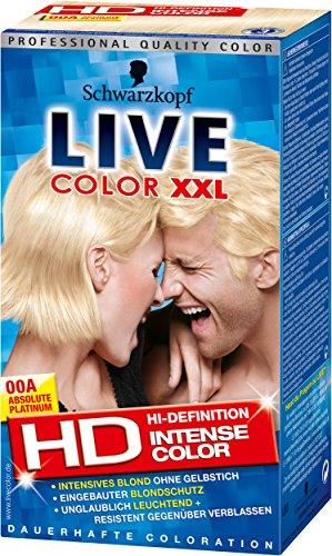 Live Color XXL dauerhafte Coloration, 00A Absolute Platinum, 1er Pack (1 Stück)