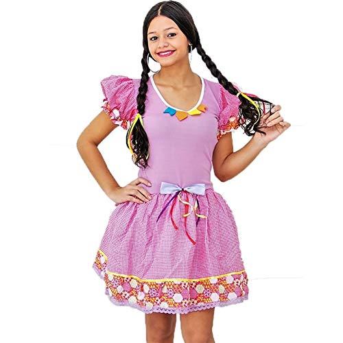 Fantasia de Festa Junina Infantil Vestido Caipira Mariazinha PP - 2