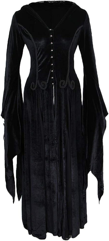 toma Baoblaze Vestido Largo con Capucha Capucha Capucha Mujer Bruja Sacerdotisa Gótica Disfraces Holloween Suave Cómoda - XS-S  mejor opcion