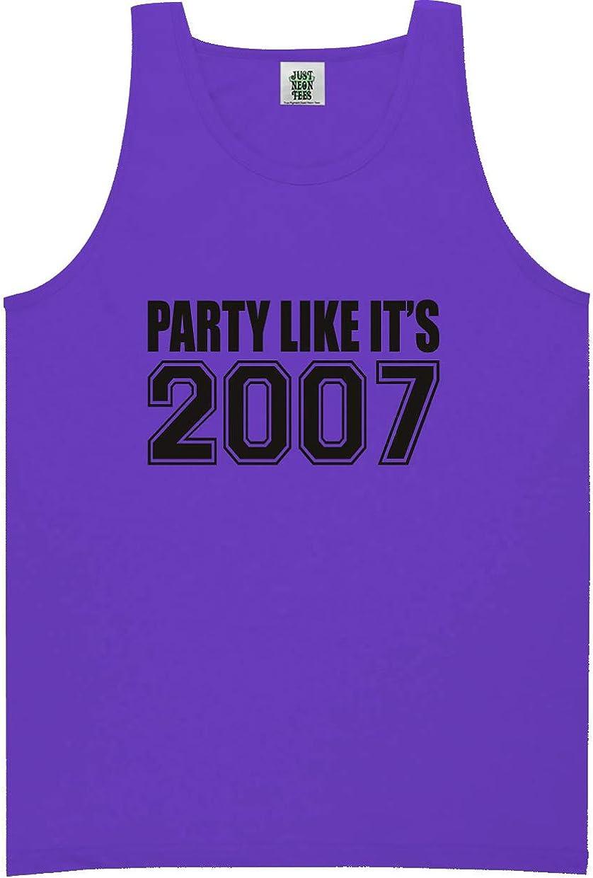 zerogravitee Party Like It's 2007 Bright Neon Tank Top