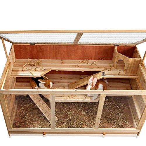 Nagerkäfig Villa Hamsterkäfig Mäusekäfig Kleintierkäfig Käfig Rattenkäfig Holz - 5