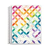 Erin Condren 8.5'x11' Spiral Coiled Notebook (Sketchbook) - Mid Century Circles Interchangeable Cover with 160 Pages, 80 Sheets of Heavy 80# Mohawk Paper