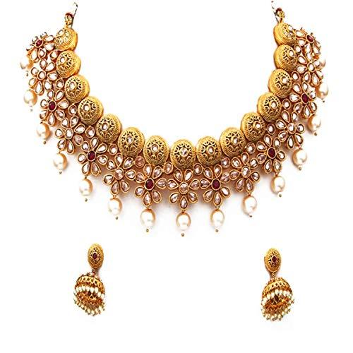 GemsOnClick chapado en oro-cobre Rubí Crystal Pearl