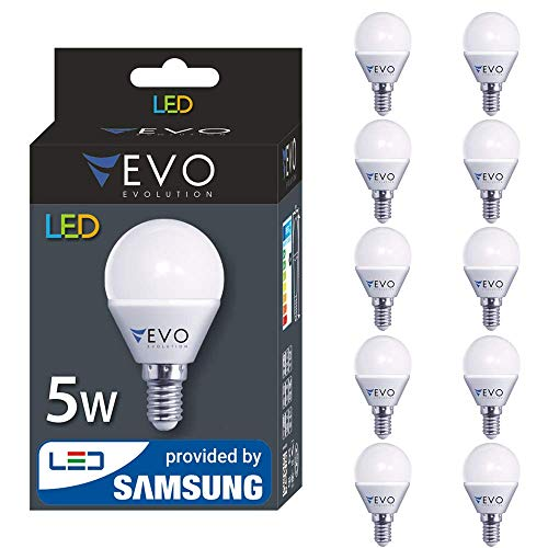 10er pack LED E14 5W A+ Lampe, 400 Lumen, Markenqualität, SMD2835 SAMSUNG, 160 GRAD, Kaltweiß 6500K
