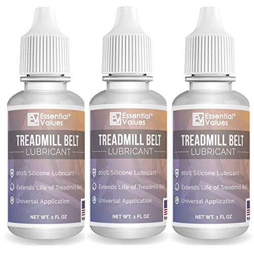 Treadmill Belt Lubricant - 100% Silicone Universal Treadmil Belt Lube *Made in USA* By Essential Values by Essential Values