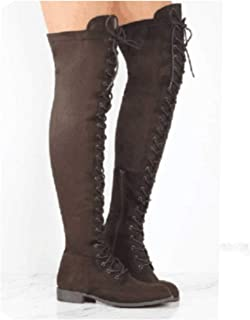 zeoqo Thigh High Boots Winter Women Over The Knee Boots Flat Stretch Shoes New Riding Shoes
