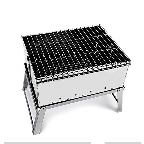 Lowest Price! Zjnhl Family Gathering/Small Barbecue Easy Barbecues Set Folding Barbecue Stove Folding Barbecue Light Charcoal Barbecue Barbecue is Not Sticky Barbecue Outdoor Barbecue Supplies