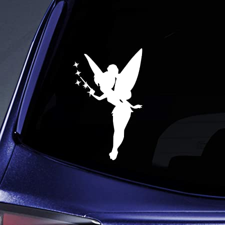 Pixie dust Tinkerbell Fairy W Vinyl Sticker Mirror Car Truck Wall Window Decal