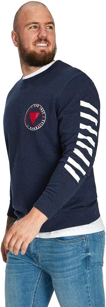 Johnny Bigg Big & Tall Iggy Graphic Sweat Shirt Navy Marle AUS 5XL (US Men's 3XL)