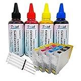 Fink - Juego de tintas de sublimación (400 ml, Compatible con Cartuchos de Tinta Epson 29 o 29XL, Tinta de Transferencia térmica para Tazas, Platos, Camisas de poliéster y Fundas de teléfono)