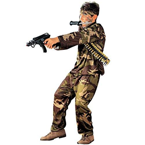 NET TOYS Enfants déguisement Forces spéciales Guerrier Costume d'enfant Soldat CRS Policier Mardi Gras Carnaval T. M 140