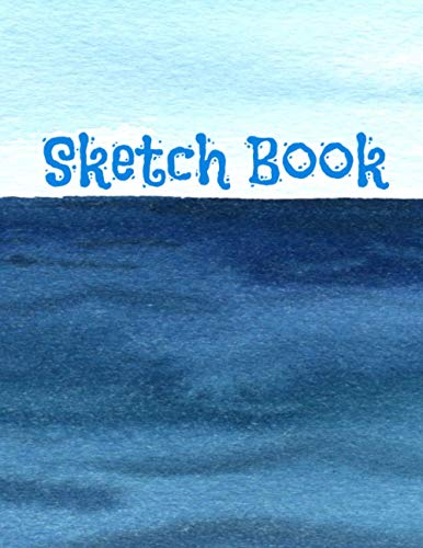 Sketch Book: Sea Notebook with Blank Paper for Drawing, Doodling, Painting, Writing, 100 Pages, 8.5x11 (Sea Design Volume 5)