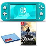 Nintendo Switch Lite (Turquoise) Bundle with 6Ave Cleaning Cloth + The Legend of Zelda: Breath of the Wild