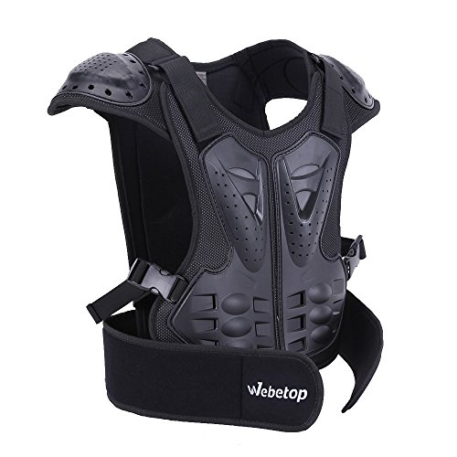 Webetop Kids Dirt Bike Body Chest Spine Protector Vest Gear for Motocross Skiing