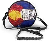 Bolso redondo mujer Women's Summer Round Bag Colorado Flag Painting Fashion Crossbody Shoulder Handbag Sling Purse Sling Bag