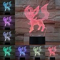 Luz de noche 3D 7 colores anime dibujos animados gatito cachorro línea luz lámpara de mesa niños lindo regalo atmósfera lámpara regalo de los niños regalo de cumpleaños decoración