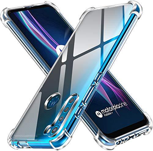 iVoler Klar Silikon Hülle für Motorola Moto One Fusion+ / Moto One Fusion Plus mit Stoßfest Schutzecken, Dünne Weiche Transparent Schutzhülle Flexible TPU Durchsichtige Handyhülle Kratzfest Hülle Cover