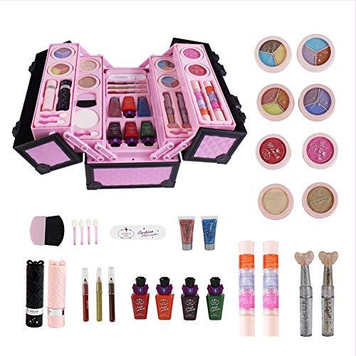 AIMERKUP 23-teiliges Kinder-Make-up-Set für Mädchen Echtes Kinder-Kosmetik-Make-up-Set mit süßer...