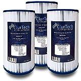 ClurTech FRX-4301-3 Replacement 3 Pack AquaTerra 50 Sq Ft Spa Filter Cartridge PFF42TC-P4 5ch-37 FC-2402 AK-4301 303279 AQUAAK-4301 HSAK-4301, White