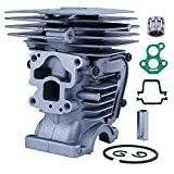 Mtanlo Kit de pistón de cilindro para motosierra Husqvarna 435 440E 135 140 Jonsered CS2240 504735101 Junta de cilindro Junta de carburador