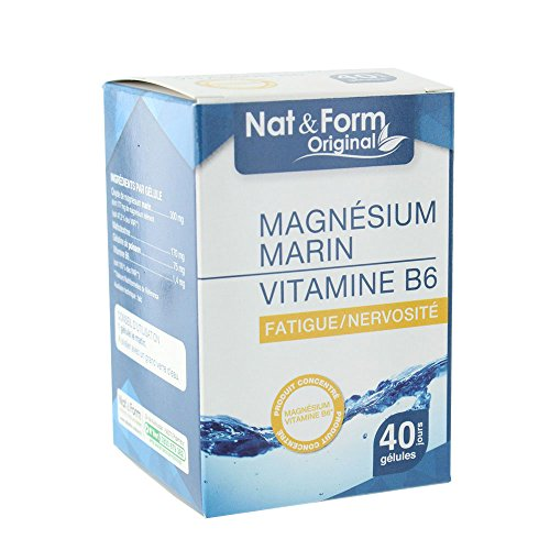 Nat & Form - Nat&form Magnesium Marin + Vitamine B6 40 Gelules