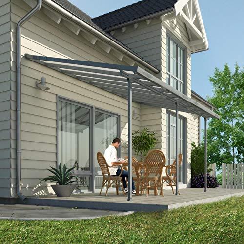 Hochwertige Aluminium Terrassenüberdachung, Terrassendach 300x730 cm (TxB) - grau