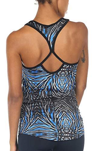 icyzone Damen Sport Yoga Tank Top - Fitness Gym Ärmelloses Shirt Trainings Top (XL, Plume)