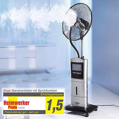 BRAST Ventilator Standventilator mit Sprühnebel Anti-Mücken-Funktion Luftbefeuchter Windmaschine