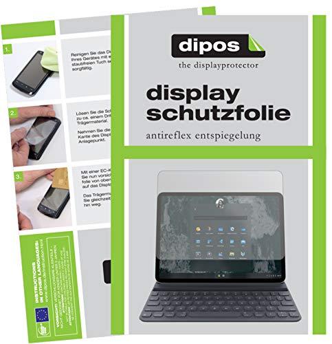 dipos I 2X Schutzfolie matt kompatibel mit Microsoft Surface Pro 7 Folie Displayschutzfolie