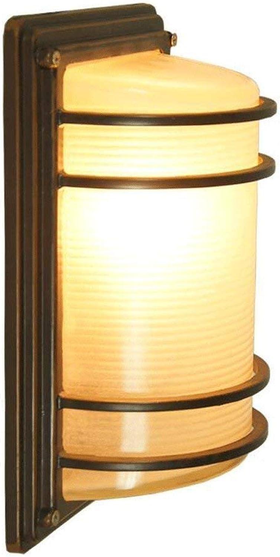 HhGold Wandleuchte E27 in reinem Aluminium Rost im Passagierabteil zur Auenwand Lampe Wandleuchte botanische kreative Lichter versiegelt (Farbe   -, Gre   -)